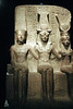 Torino Egyptian Museum - Rameses II with Pals Amun and Mut