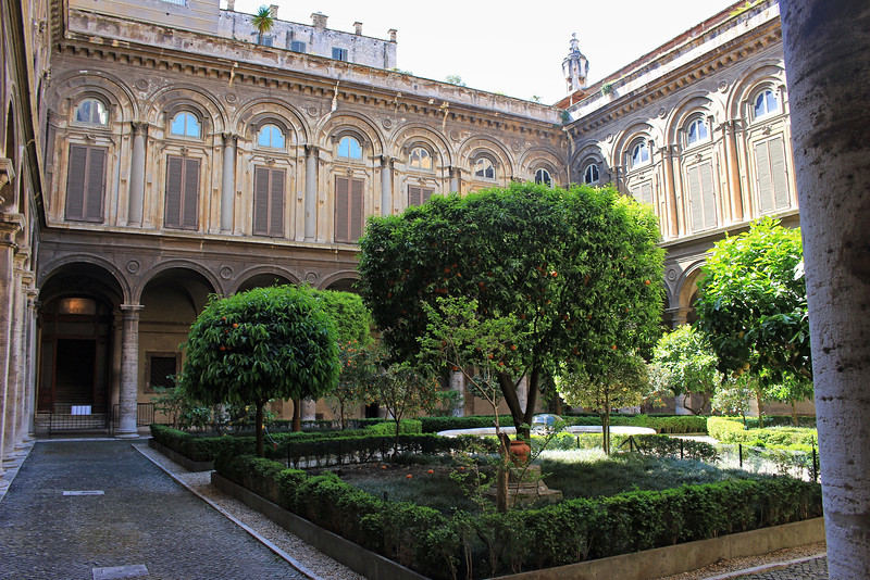 Courtyard of Galleria Doria Pamphilj