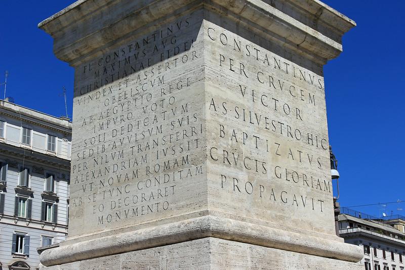 Lateran Obelisk Base