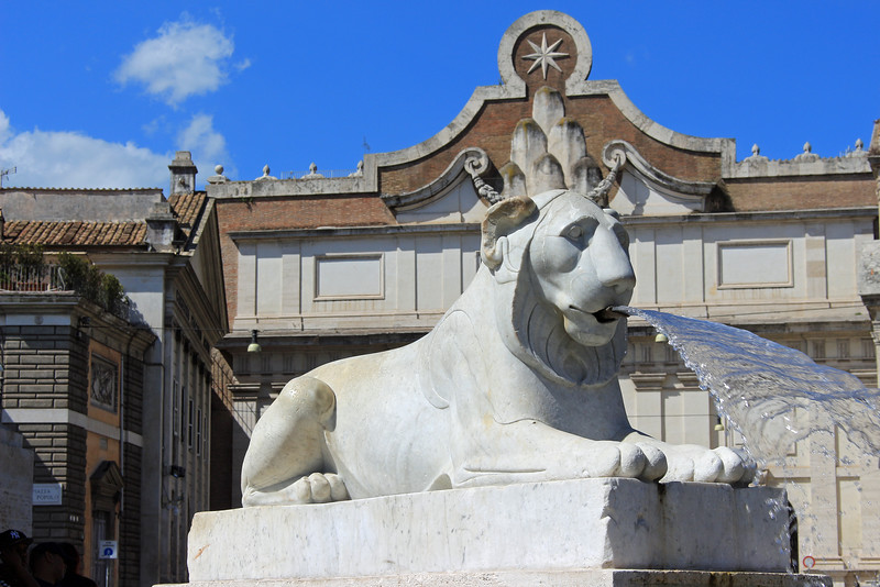 Lion Fountain at Obelisk Base