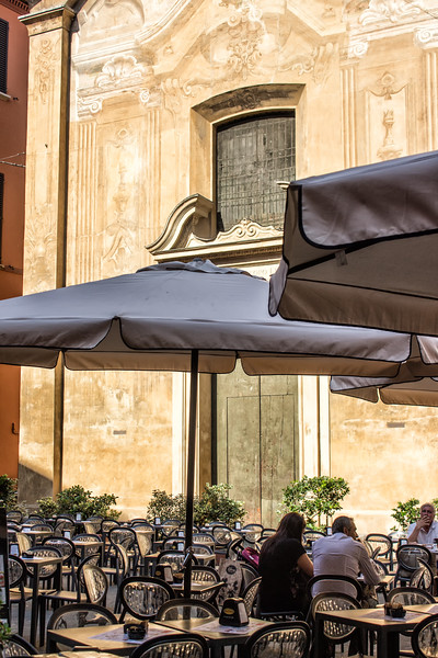 Bologna - Restaurant Tables by Painted Facade
