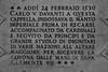 San Petronio Basilica - Charles V Plaque 1