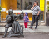 Woman, Child and Statue