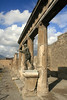 Pompeii - Columns and Architrave with Reproduction Statue