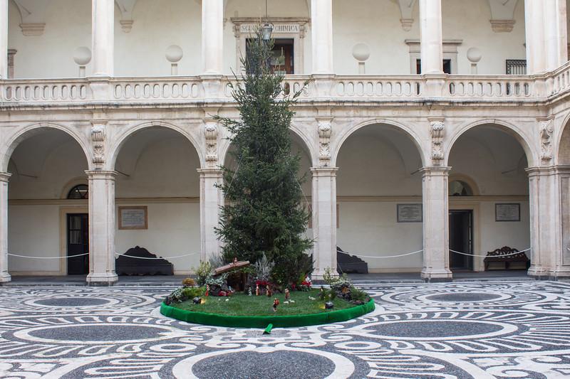 Catania - Courtyard with Christmas Tree