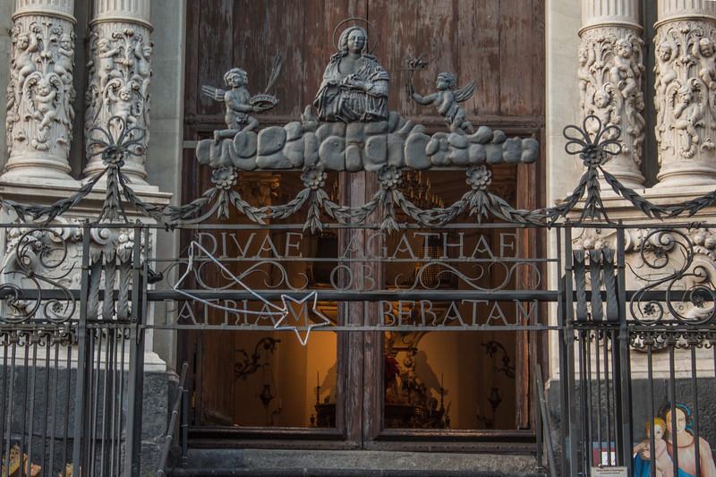 Catania - Gate of Badia di Sant'Agata