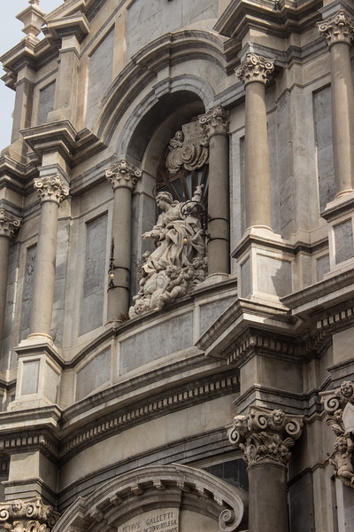 Catania - Detail of Cathedral Facade