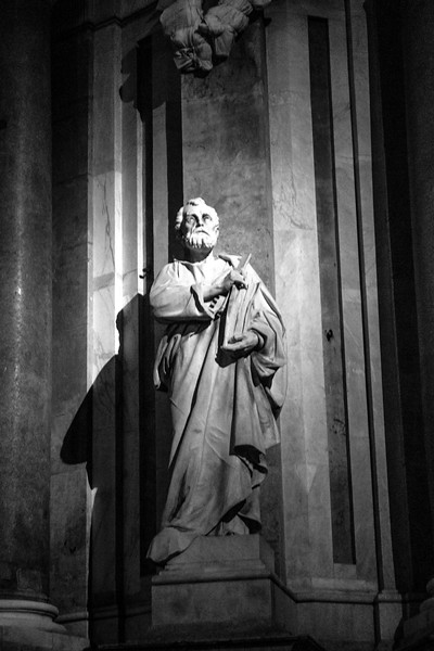 Catania - Cathedral Statue by Night