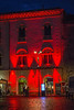 Siracuse - Red Lit Building