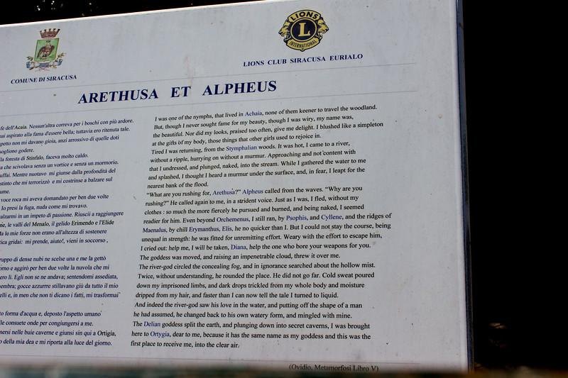 Legend of Arethusa (Ovid, Metamorphoses)