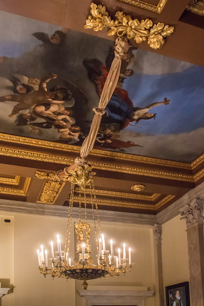 Royal Palace - Chandelier and Ceiling Painting