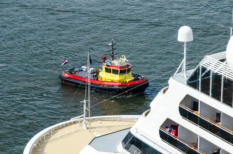 Cruise Liner Prepares to Depart