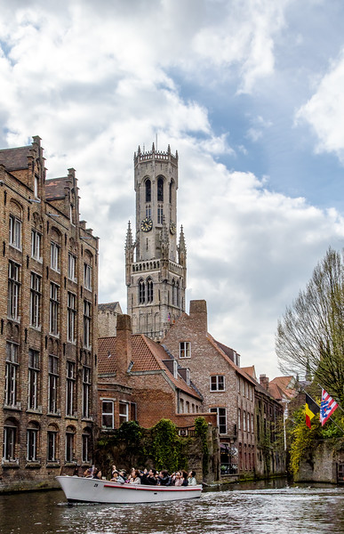 Bell Tower Over a Canal, Brugges