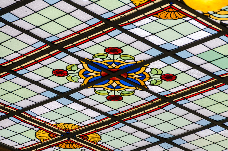 Stained Glass in Ceiling within Calais Town Hall