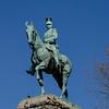Statue of Kaiser Wilhelm II on south ramp, on the Hohenzollern Bridge, left bank of the Rhine