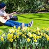 Guitarist in Keukenhof