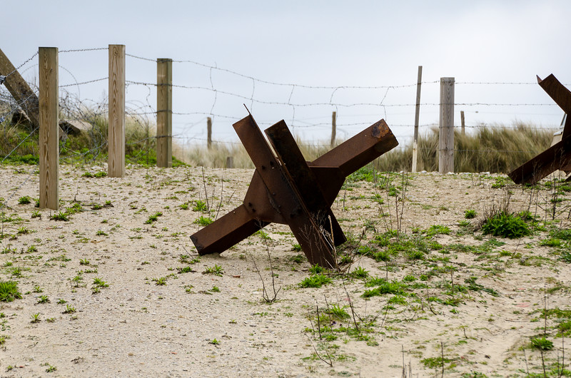 Tank Trap at Utah Beach, Normandy