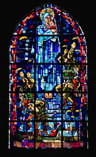 Stained Glass Window in Sainte-Mère-Église