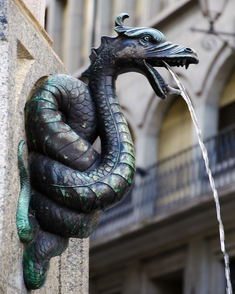 Dragon Fountain Detail