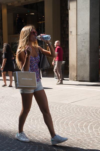 Hot pants, hot work! Milan.