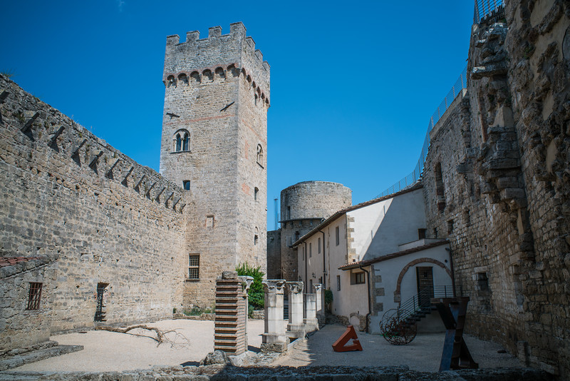 Tuscany, The Rock of Staggia, weird hippy castle!