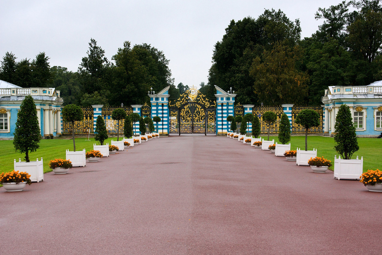Grand entrance to Catherine's Palace.