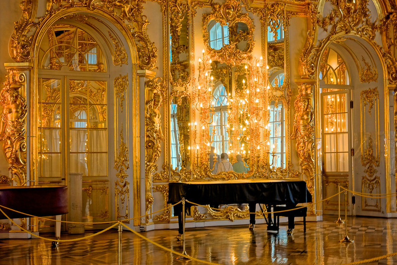 Gilded room Catherine's Palace.