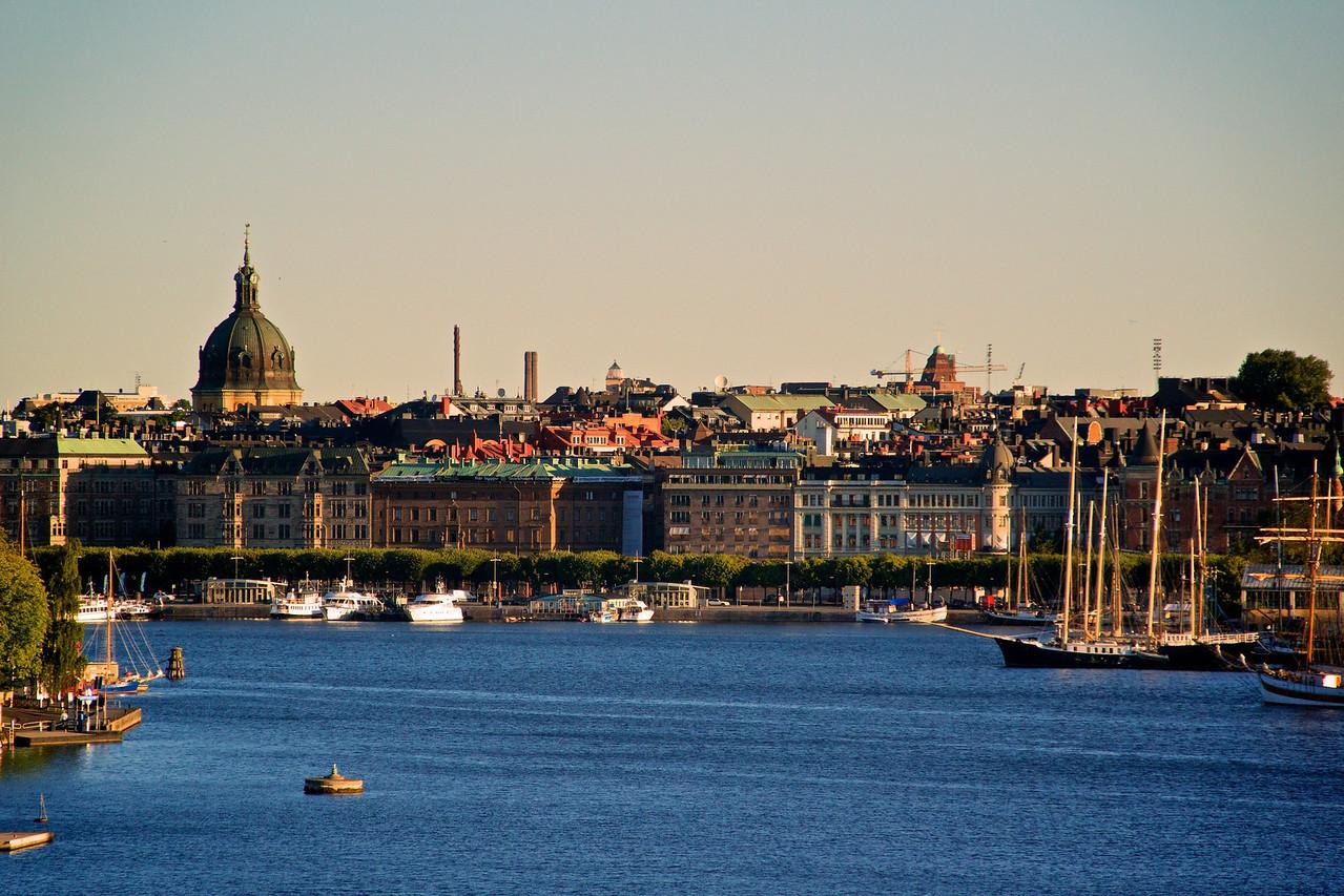 Stockholm waterfront.