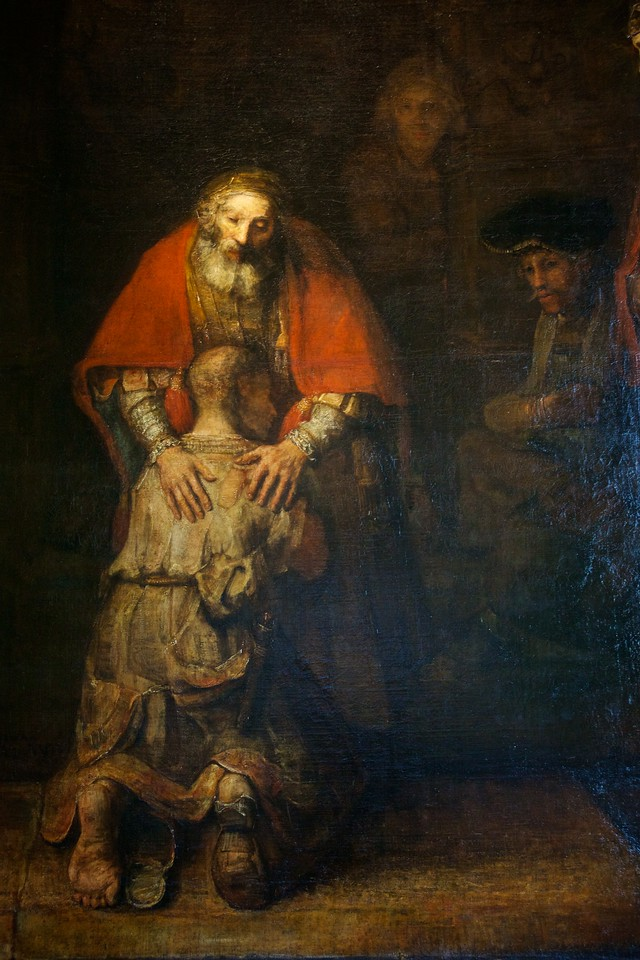 Detail from Rembrandt's Return of the Prodigal Son.