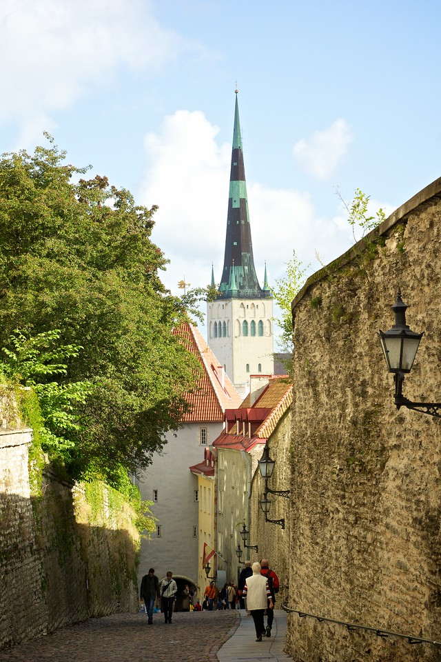 Hilly Street Oldtown Tallinn.