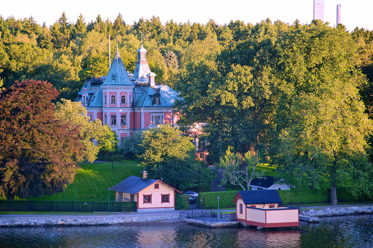 Waterfront home, Stockholm channel.