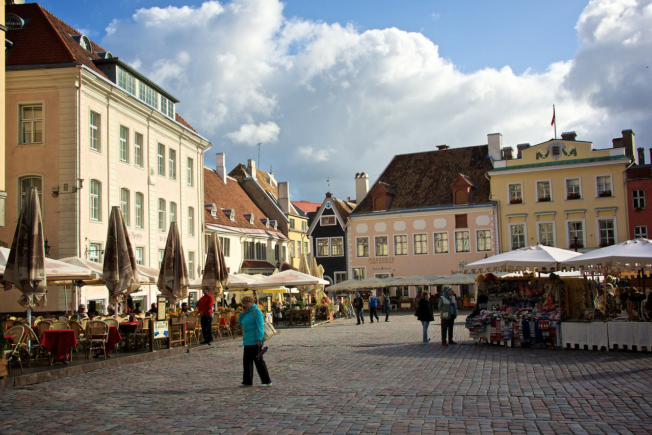 Market square Oldtown Tallinn.