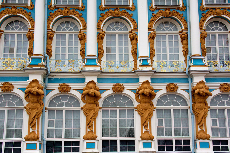 Catherine's Palace facade.