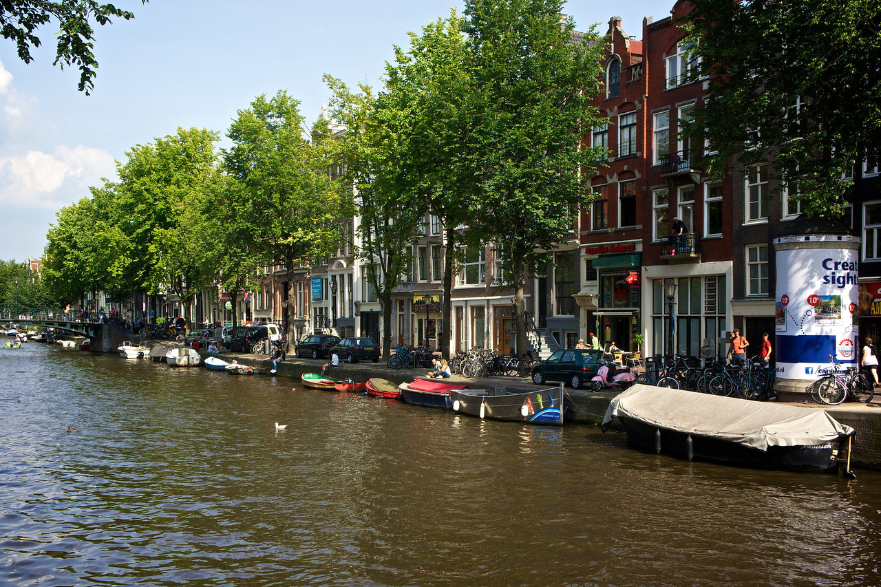 We had one afternoon in Amsterdam because of travel connections. This is one of Amsterdam's many beautiful canals.