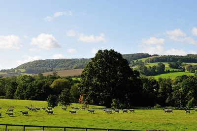 View of the country from Sudeley Castle