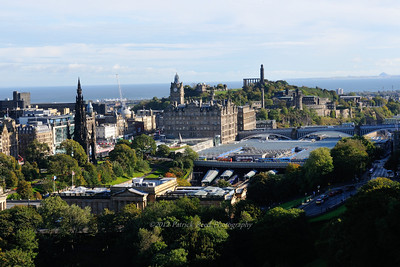 Scott Monument and Calton Hill from Edinburgh Castle
