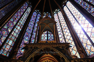 The many stained glass windows of St. Chappelle