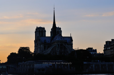 Notre Dame from Seine river cruise boat