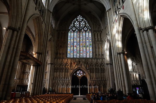 Interior of the main entrance wall of York Minster