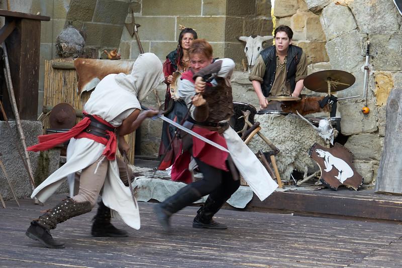 Sword play medieval dinner show