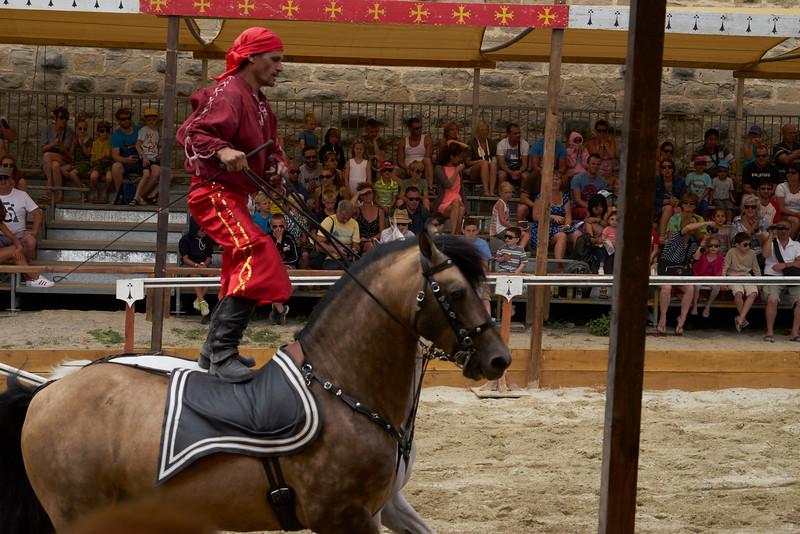 'Riding' exhibition medieval show Carcassonne