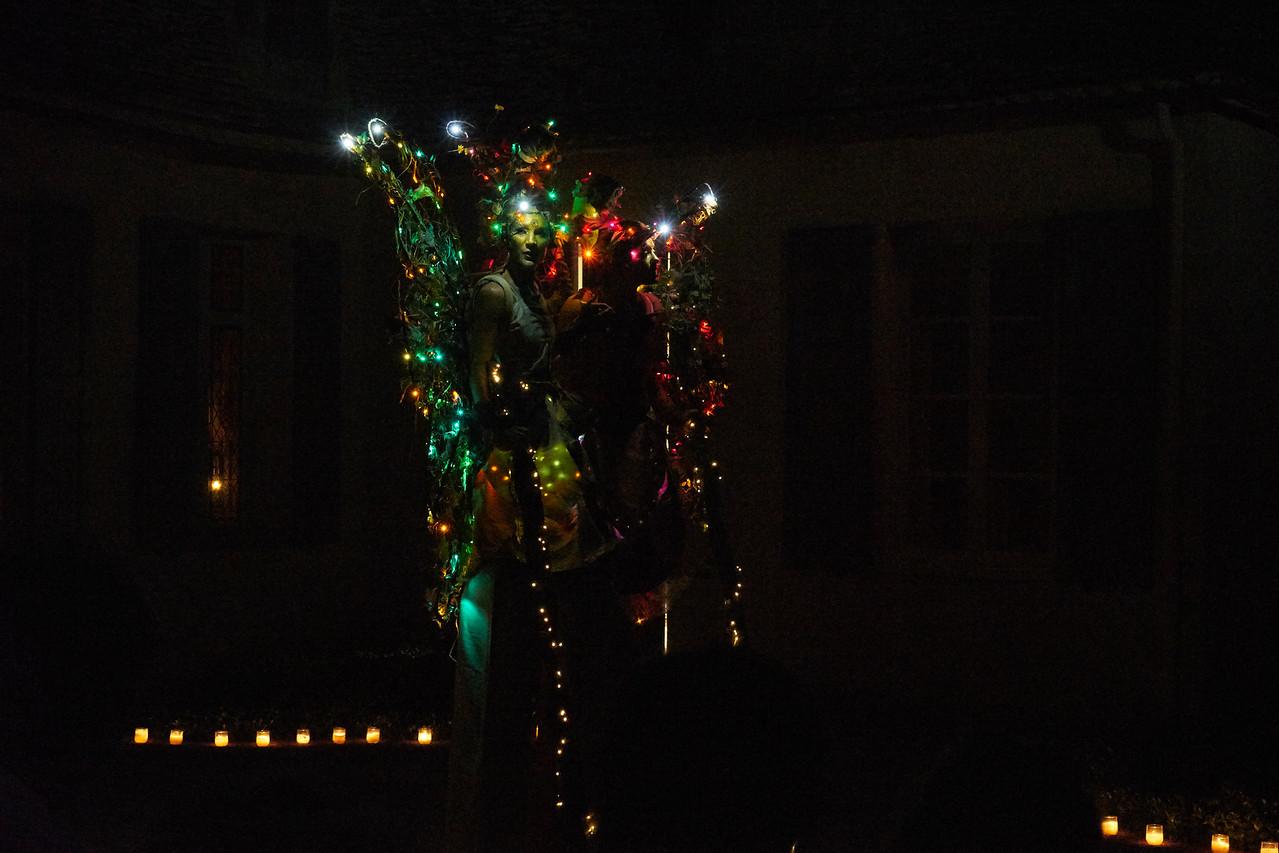 Stilts and lights