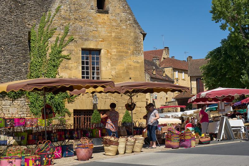 Market baskets at the market