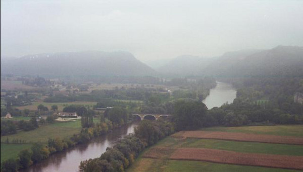 Misty day over the Dordogne