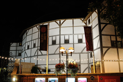 Outside of the Shakespeare Globe Theatre