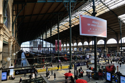 The Charles De Gaul train station, going from Paris to London under the English Channel
