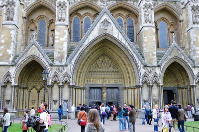 Side entrance to Westminster Abbey