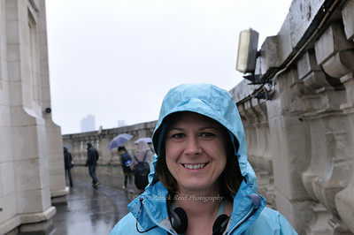 On top of St. Paul's Cathedral in the rain