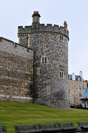 One of the towers on the outer wall of Windsor Castle