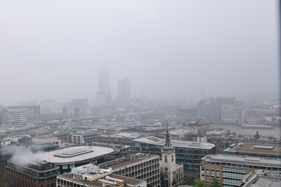 Rainy view from the top of St Paul's Cathedral